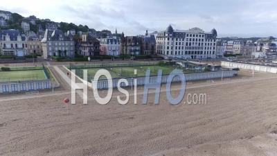 Plage Normande, Trouville-Sur-Mer, Vue D'un Drone