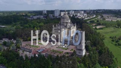 Basilica Of Lisieux - Video Drone Footage, Lisieux, Lower Normandy, France