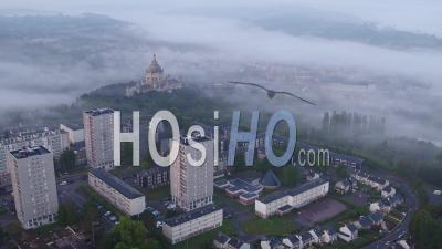 Basilica Of St Therese Of Lisieux Church , Video Drone Footage