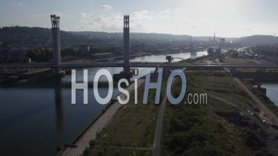 Pont Gustave-Flaubert, Rouen, Vu Par Drone