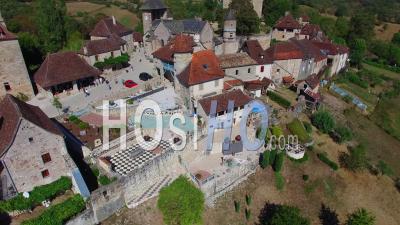 Village Of Curemonte - Video Drone Footage
