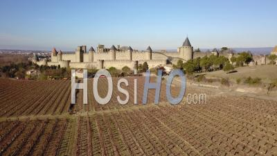 Carcassonne Old City, Seen By Drone