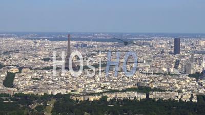 Tour Eiffel Et Tour Montparnasse, Vues Par Hélicoptère