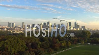 Quartier De La Défense Par Drone