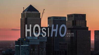 Vue Aérienne De Canary Wharf, Ligne D'horizon De Londres, Quartier Financier De Londres, Londres, Royaume-Uni