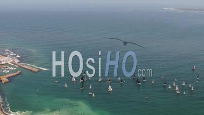 Mouille Point And Stadium, Cape Town Filmed By Helicopter