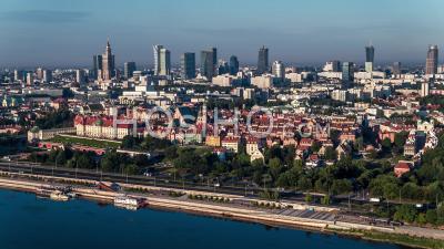Panorama De Varsovie, Vieille Ville, Stare Miasto, Starowka, Varsovie, Vidéo Drone