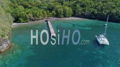 Anse Noire In Martinique By Drone - Drone Point Of View