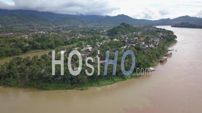 Luang Prabang Cityscape, Drone Footage