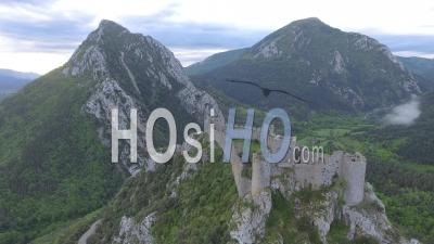 Puilaurens Cathar Castle, Drone Point Of View