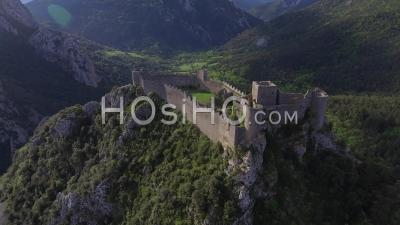 Puilaurens Cathar Castle, Video Drone Footage