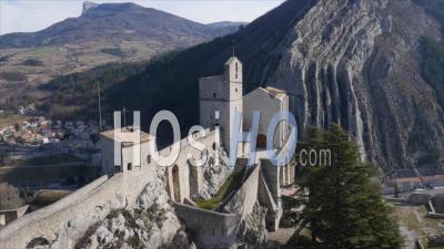 The Historic Citadelle Of Sisteron, Provence, France By Drone