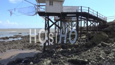 The Fishing Huts Of Royan, Charente-Maritime, France - Video Drone Footage