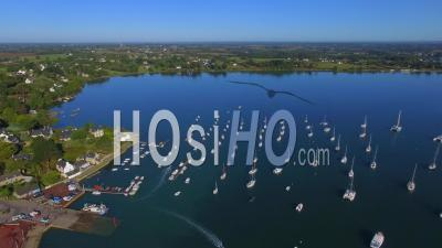 The Harbor Of Baden - Video Drone Footage