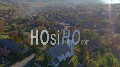 Drone Point De Une église Par Drone - Drone Point De Vue