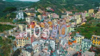 Patrimoine Mondial De L'unesco Cinque Terre Villiage Riviera Italienne - Vidéo Drone