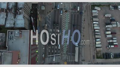 Photo Aérienne De Les Et Du Pont De Williamsburg Du Côté De Manhattan - Vidéo Drone