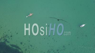 Voiliers à L'ancre Weymouth Dorset Drone Vidéo Sud De L'angleterre - Vidéo Drone