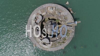 Abandonné Historique Sea Fort Solent Uk - Vidéo Drone