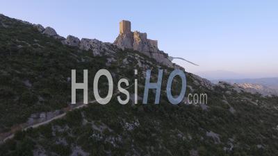 Queribus Cathar Castle, Video Drone Footage