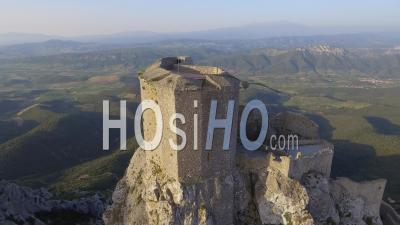 Queribus Cathar Castle, Drone Point Of View
