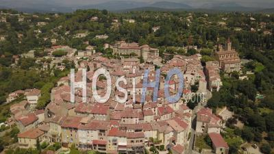 Panoramic View Of The Provencal Village Of Callian - Video Drone Footage