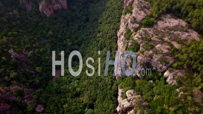 Flying Over The Canyon Of Blavet, Vertical Video Drone Footage