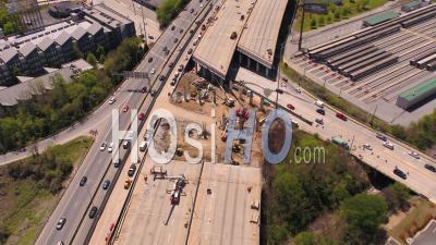 Pont Effondré Atlanta Géorgie Usa - Vidéo Drone