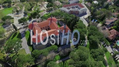 Villaviciosa De Odón Archivo Histórico Ejército Del Aire Madrid Spain - Video Drone Footage