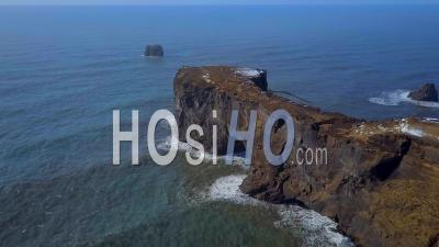 Dyrholaey Natural Rock Arch Iceland - Video Drone Footage
