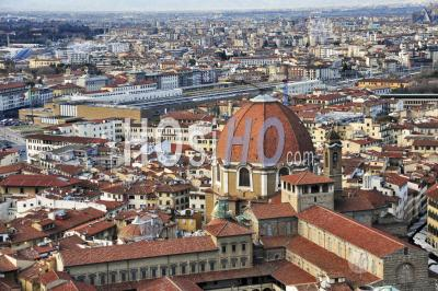 Florence Cathedral In Capital City Of The Italian Region Of Tuscany, Italy. - Aerial Photography