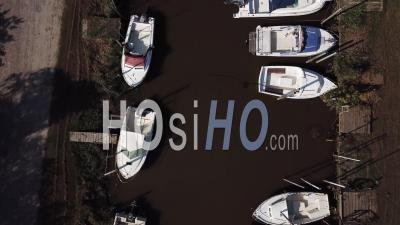Oyster Port Of Biganos, Video Drone Footage