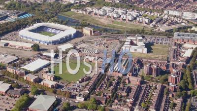 Leicester City Centre Filmé Par Cessna