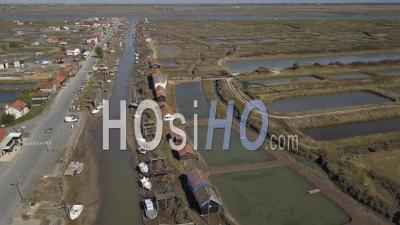 La Tremblade Harbor Video Drone Footage