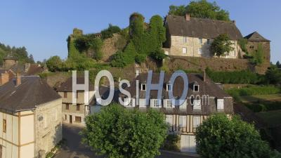 Village Segur-Le-Chateau - Video Drone Footage