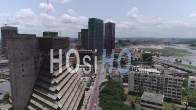 Plateau In Abidjan, Video Drone Footage