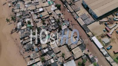 The Rasta Village In Vridi District In Abidjan, Video Drone Footage