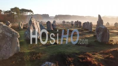 Carnac Stones At Sunrise - Video Drone Footage