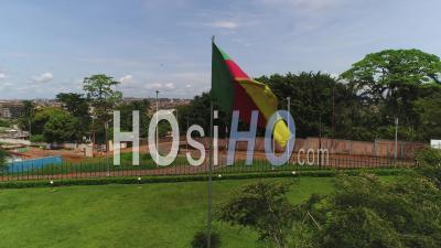 Monument Of Reunification In Yaounde, Video Drone Footage