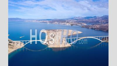 Krk Bridge Hyperlapse - Video Drone Footage