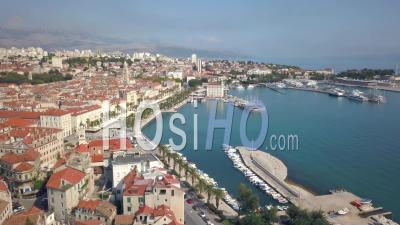 Split Old Town - Video Drone Footage
