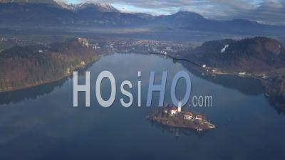 Bled Lake, Slovenia - Video Drone Footage