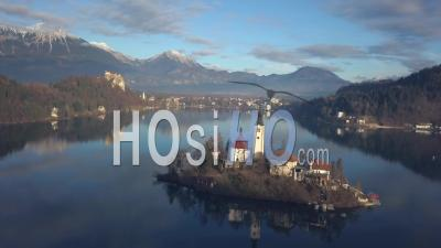 Bled Lake, Slovenia - Drone Point Of View