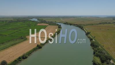 Petit-Rhone In Camargue - Video Drone Footage
