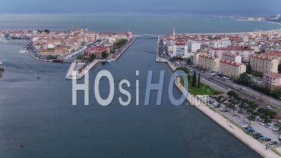 Port Of Martigues, Viewed From Drone