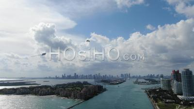 The Gateway To Miami - Southern Tip Of Miami Beach(south Beach) - Video Drone Footage