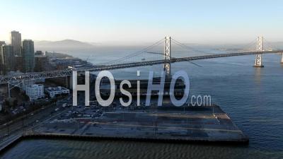 San Francisco Bay Bridge Hyperlapse - Video Drone Footage