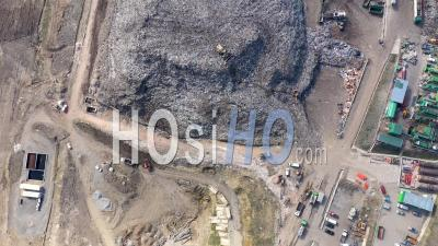 Garbage Pile, Trash Dump, Landfill - Video Drone Footage