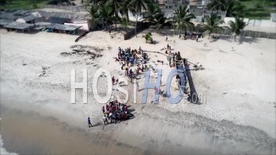 Pêcheurs à L'océan - Vidéo Drone