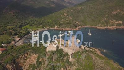 Girolata Harbour - Video Drone Footage